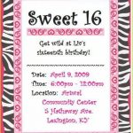 Marvelous Sweet 16 Birthday Invitations As Prepossessing Ideas Free   Free Printable Sweet 16 Birthday Party Invitations