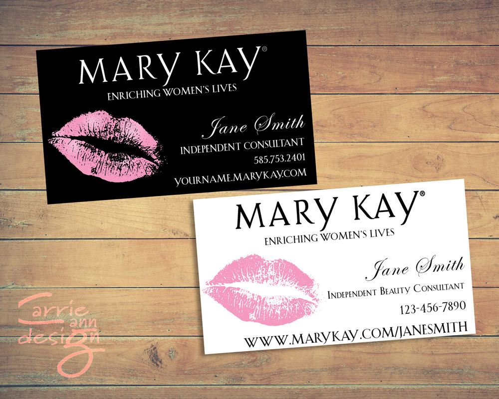 Mary Kay Business Cards Printable Lips Pink Custom   Etsy - Free Printable Mary Kay Business Cards