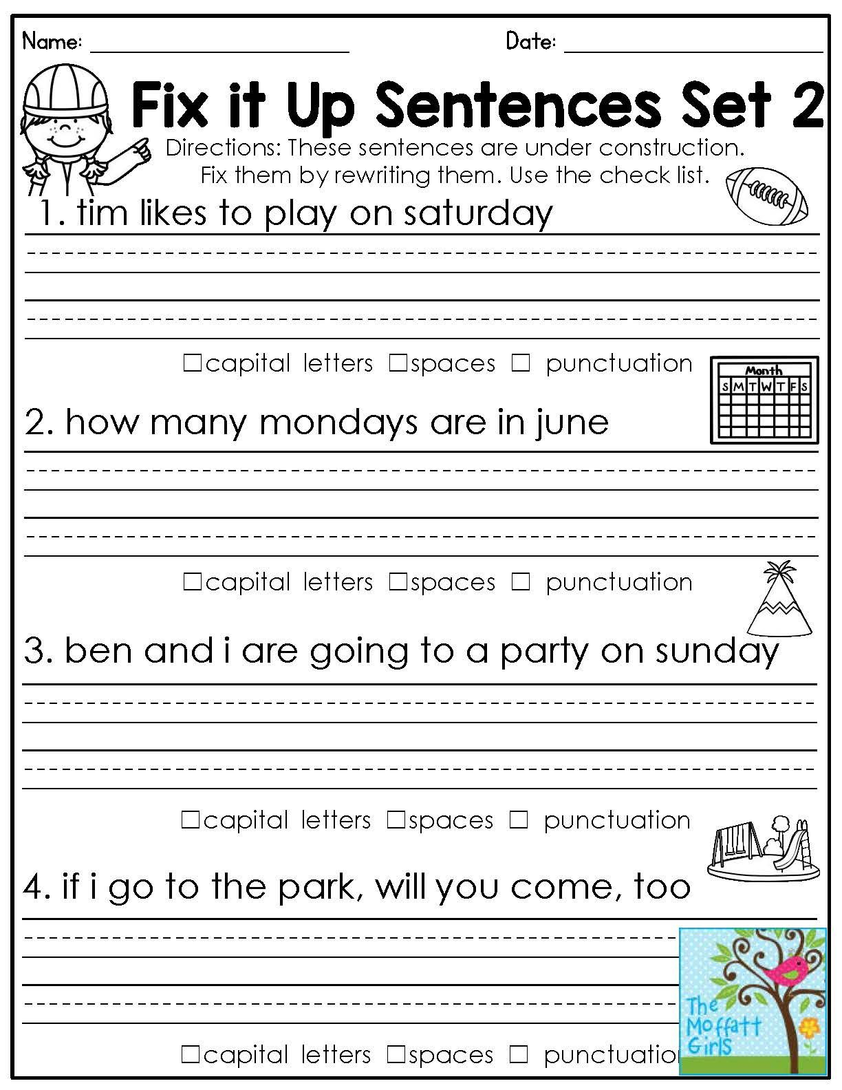 Mastering Grammar And Language Arts! | Grammar | Pinterest | 2Nd - Free Printable Language Arts Worksheets For 1St Grade