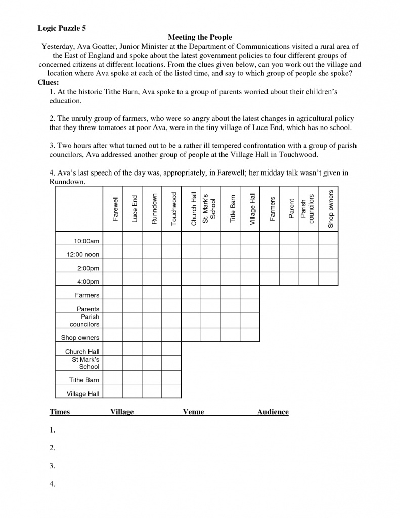 Math Logic Puzzles Worksheets Pdf | Download Them And Try To Solve - Free Printable Logic Puzzles