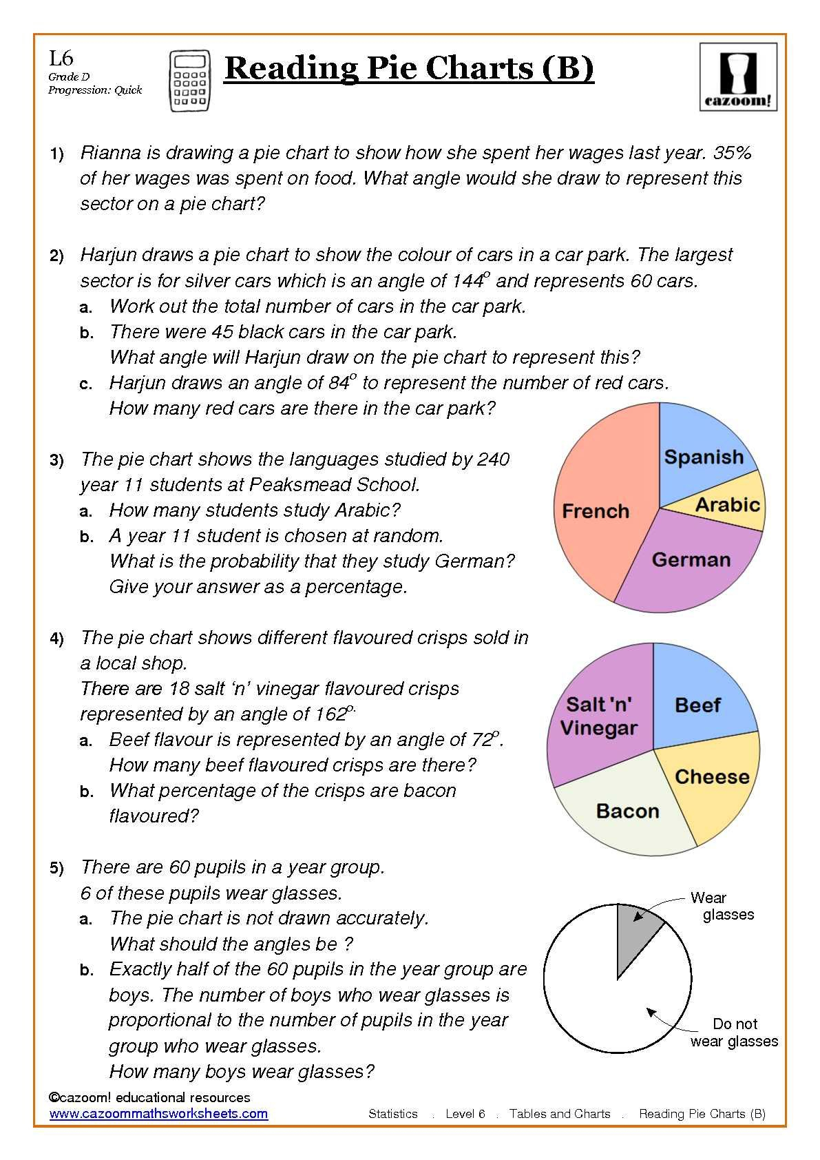 Maths Worksheets - Free Printable Statistics Worksheets