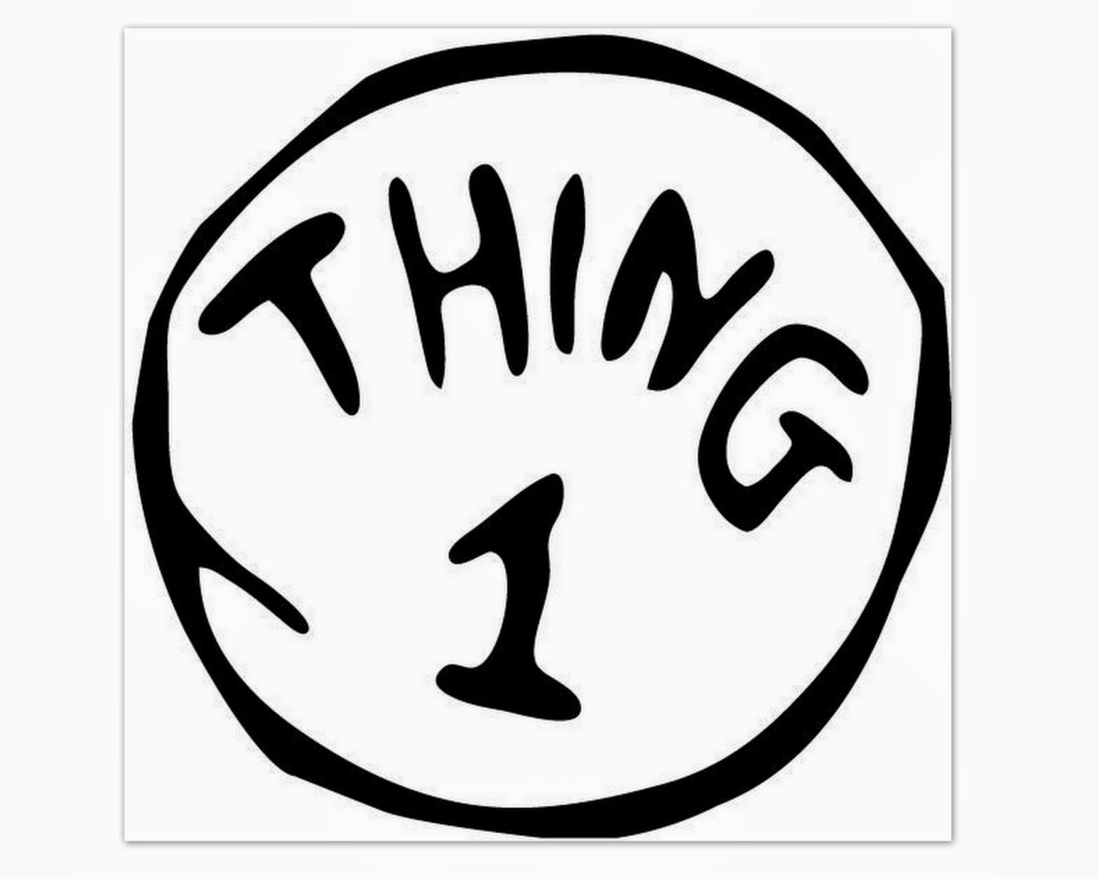 Mccash Family Blog: Thing 1 & 2 Freebie : Shirt Tutorial And Free Images - Thing 1 And Thing 2 Free Printable Template