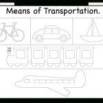 Means Of Transportation – Tracing Worksheet / Free Printable | Kgi   Free Printable Transportation Worksheets For Kids