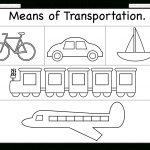 Means Of Transportation – Worksheet / Free Printable Worksheets   Free Printable Transportation Worksheets For Kids