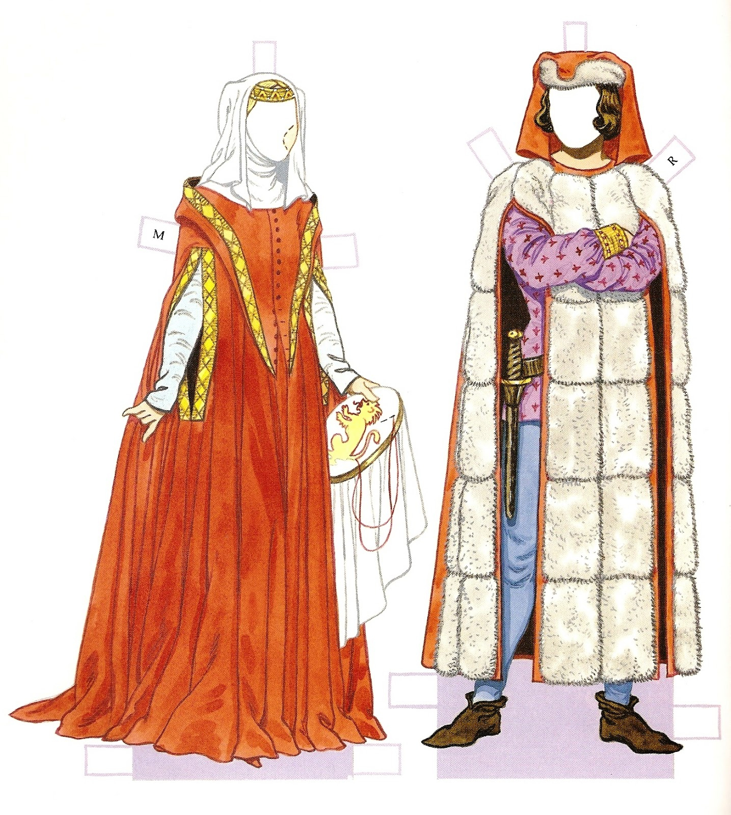 Medieval Paper Dolls Printable | Download Them Or Print - Medieval Paper Dolls Free Printable