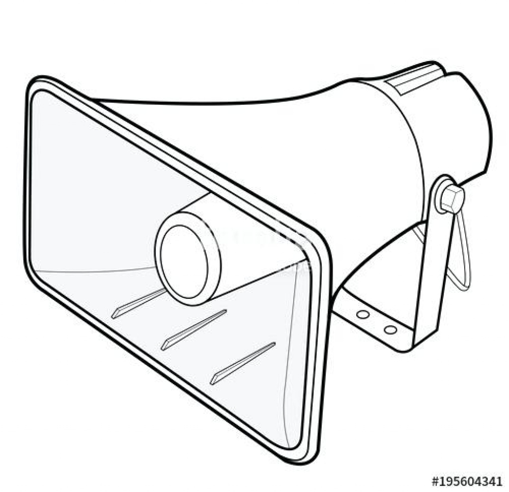 Megaphone Template Printable Speaker Vector Illustration Flat - Free Printable Megaphone Template