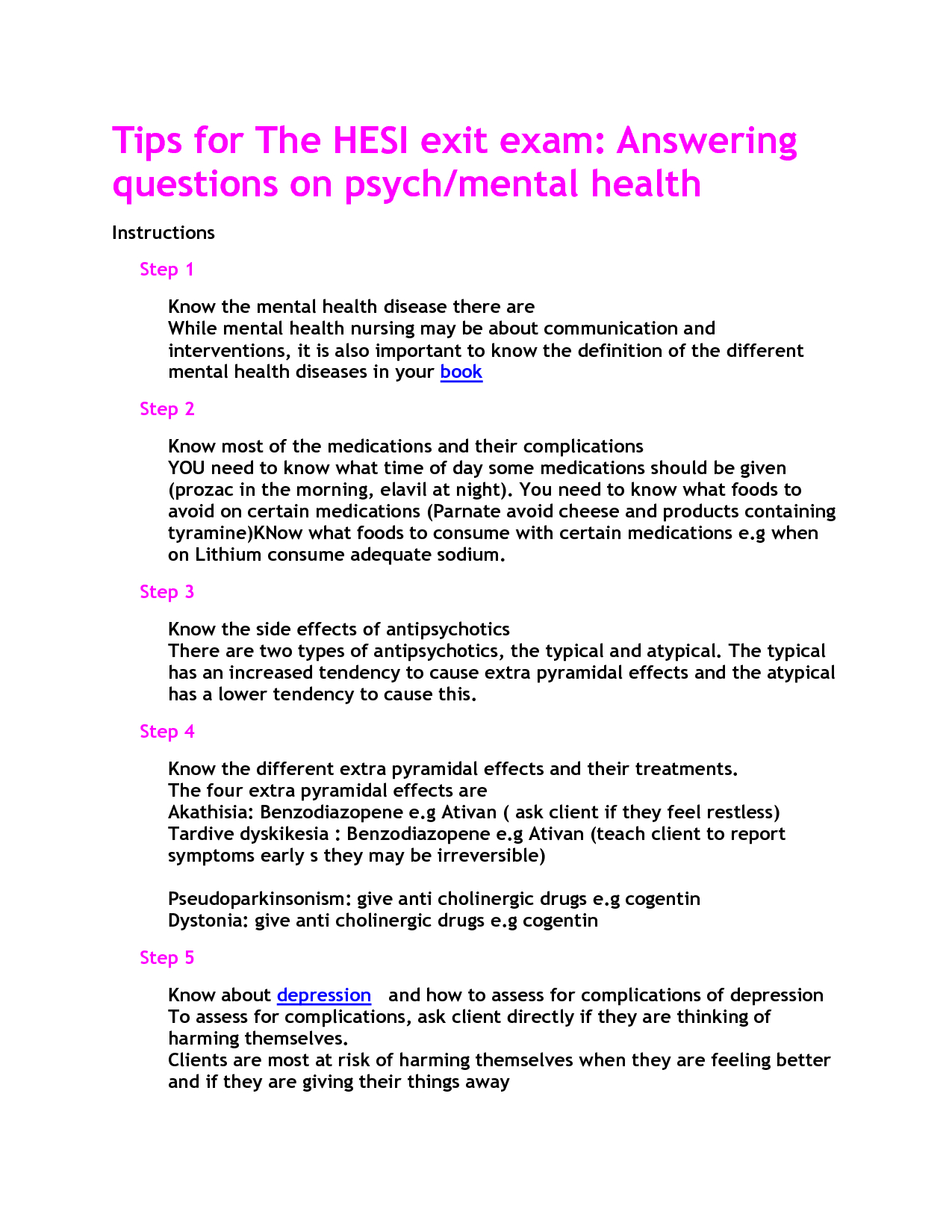 Mental Health Hesi Study Guide | Nursing | Pinterest | Mental Health - Free Printable Hesi Study Guide