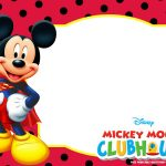Mickey Mouse Polka Dot Invitation Templates | Cards   Sayings   Free Printable Mickey Mouse Invitations