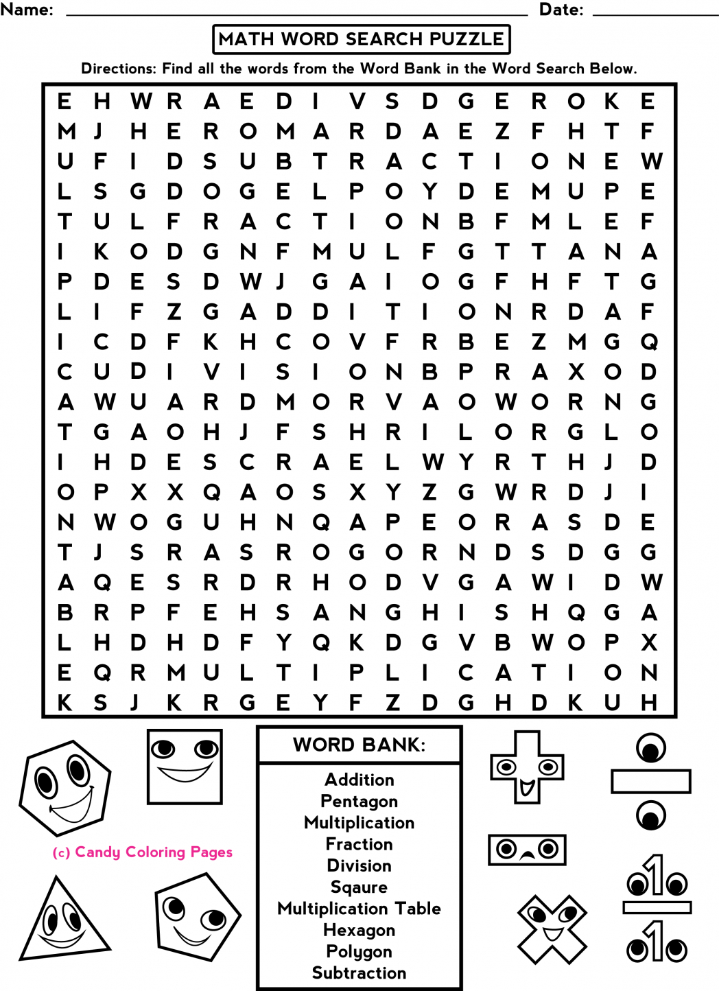 Middle School Free-Printable-Halloween-Math-Worksheets-For-Pre - Free Printable Word Searches For Middle School Students