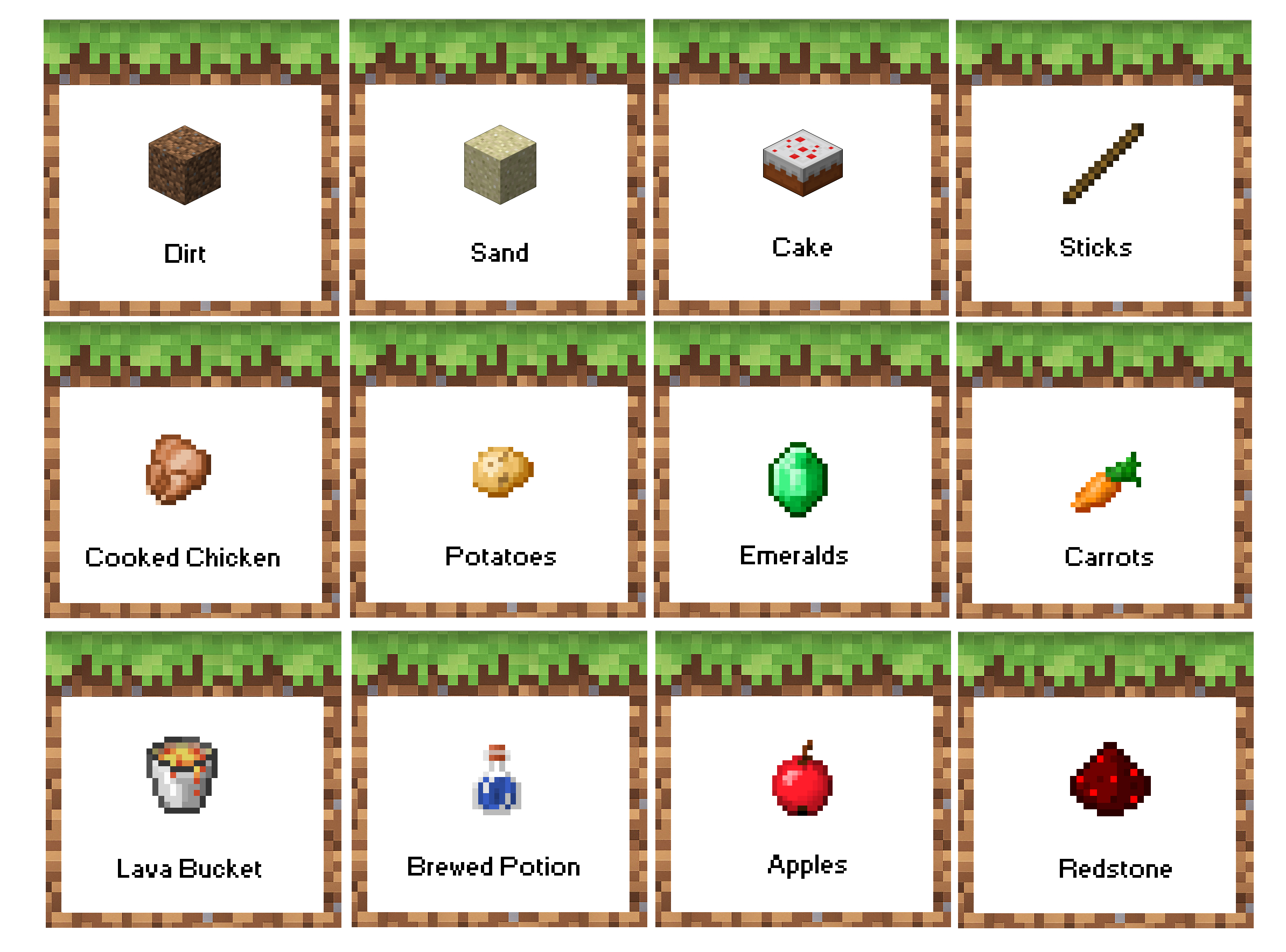 Minecraft Birthday Party Food Labels. Free Printable! Now With - Free Printable Minecraft Food Labels