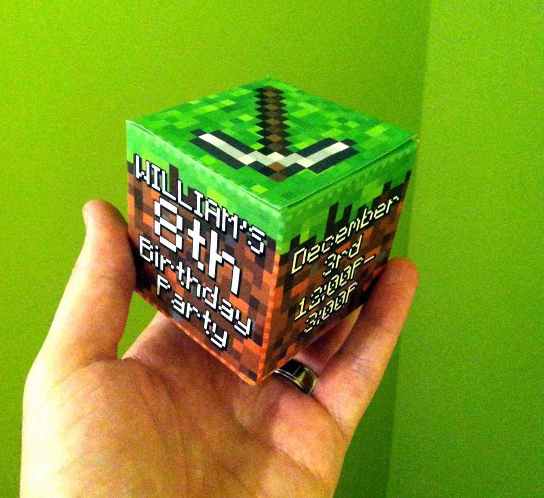Minecraft Birthday Party Invitation Template Awesome 19 - Free Printable Minecraft Birthday Party Invitations Templates