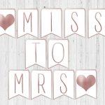 Miss To Mrs Banner. Bridal Shower Banner Printable. Letter Banner   Free Printable Miss To Mrs Banner