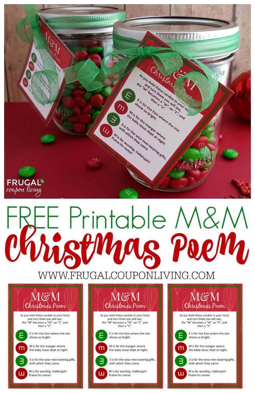 M&m Christmas Poem | Christmas Printables 6 | Pinterest | Christmas - Free Printable Christian Christmas Poems