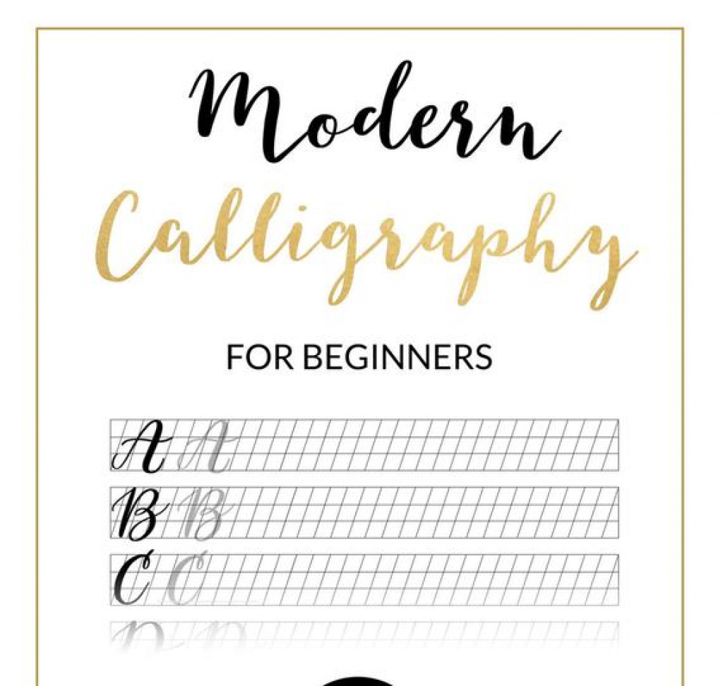 Modern Calligraphy Practice Sheet Downloadable Calligraphy | Etsy - Calligraphy Practice Sheets Printable Free