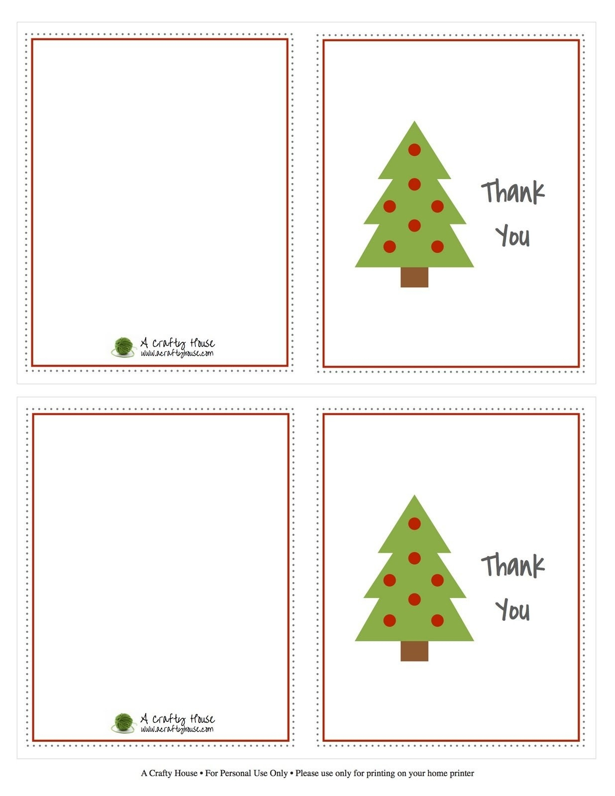 Modern Decoration Christmas Thank You Cards Printable Free Christmas - Christmas Thank You Cards Printable Free