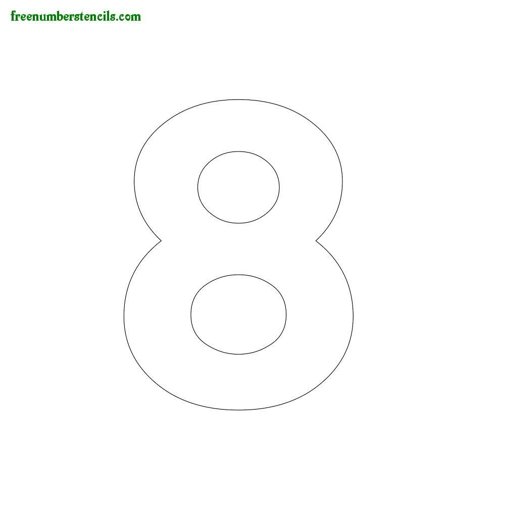 Modern Number Stencils Online Printable - Freenumberstencils - Free Printable 5 Inch Number Stencils