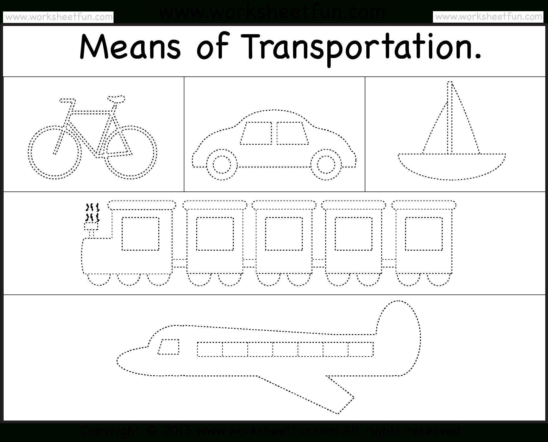 Modes Of Transportation / Free Printable Worksheets – Worksheetfun - Free Printable Transportation Worksheets For Kids