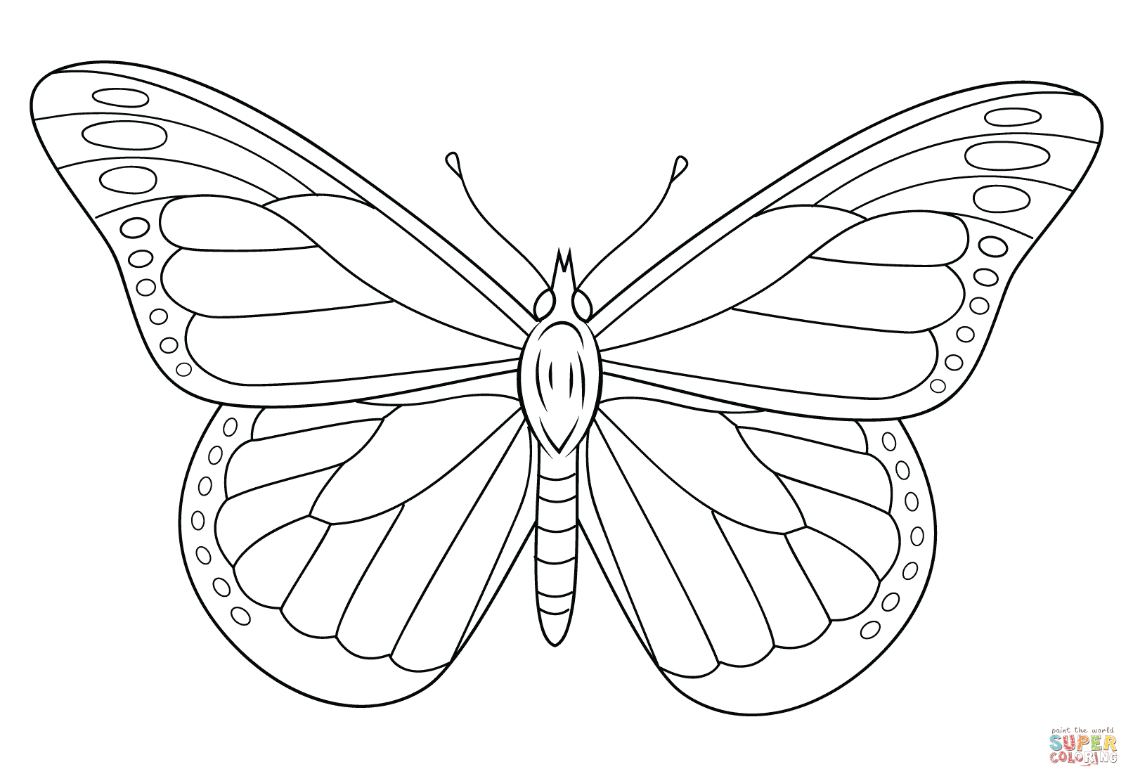 Monarch Butterfly Coloring Page | Free Printable Coloring Pages - Free Printable Butterfly Coloring Pages