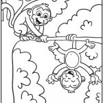 Monkey Coloring Pages 4 #29452   Free Printable Monkey Coloring Sheets