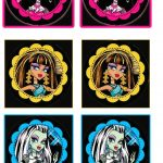 Monster High: Free Printable Cupcake Toppers And Wrappers. | Oh My   Free Printable Monster High Stickers