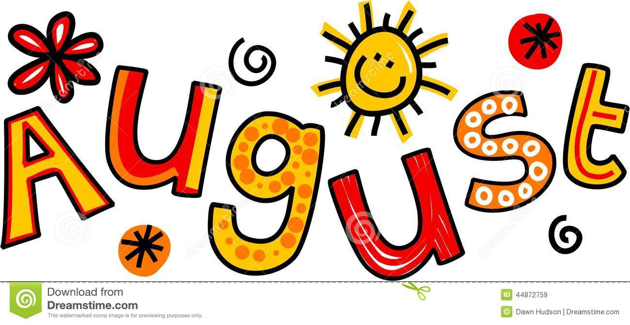 Month Of August Clipart - Free Printable Clipart For August