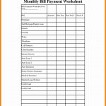 Monthly Bill Paying Organizer Template Home Bills Free Printable   Free Printable Monthly Bill Payment Worksheet