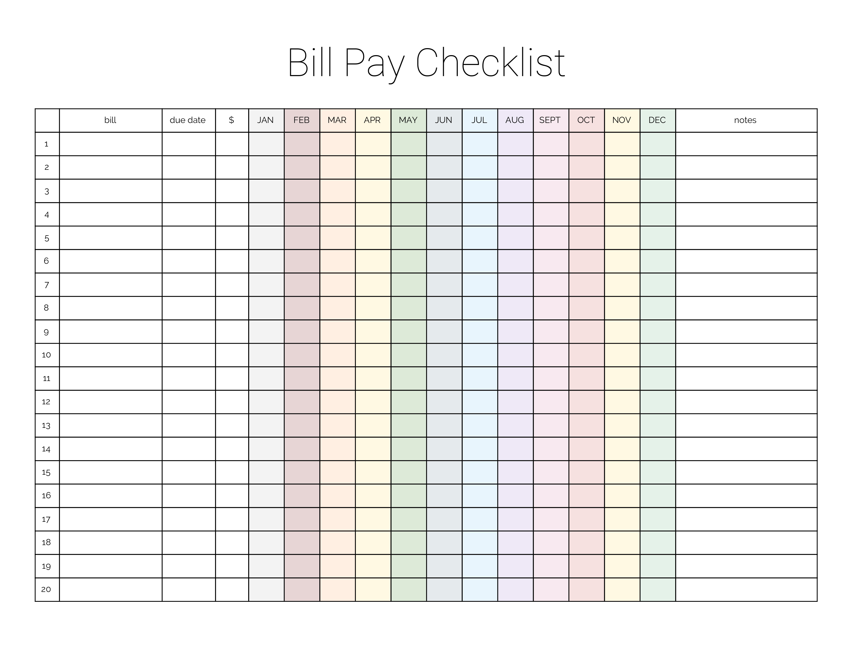 Monthly Bill Payment Checklist {Printable} - Million Ways To Mother - Free Printable Bill Payment Checklist