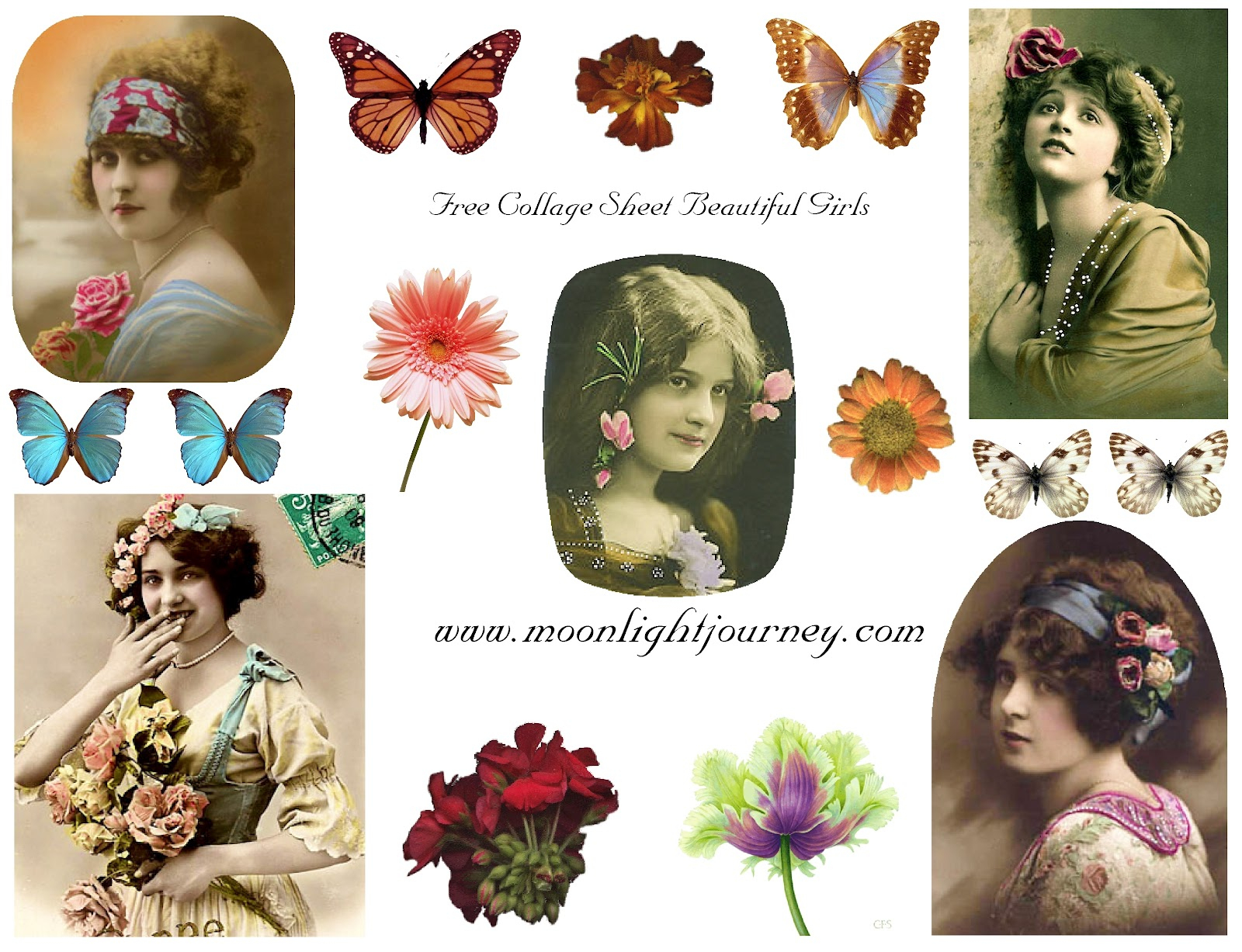 Moonlightjourney: Free Collage Sheets - Free Printable Picture Collage