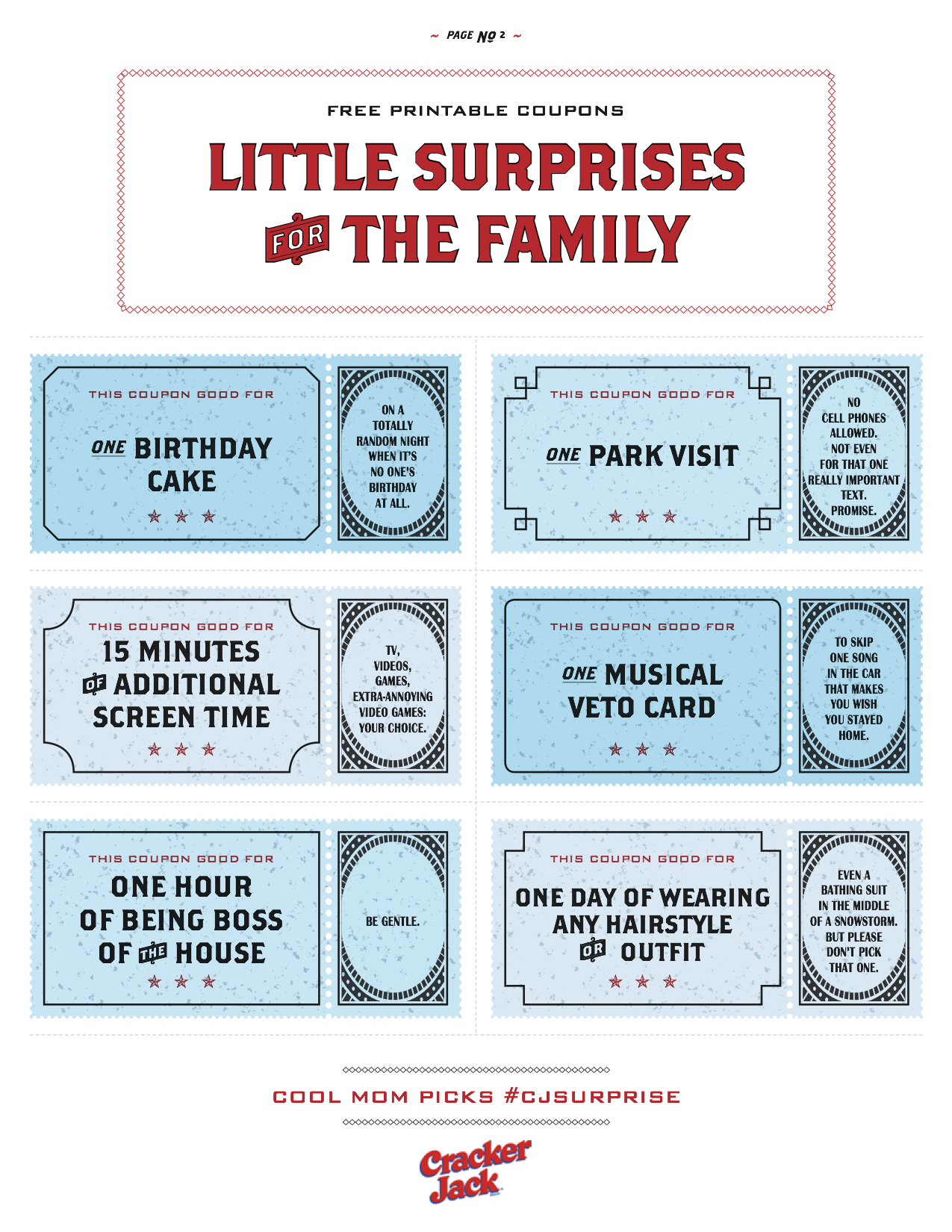 More Free Printable Coupons For Family Surprises You'll Love - Free Printable Coupons 2014