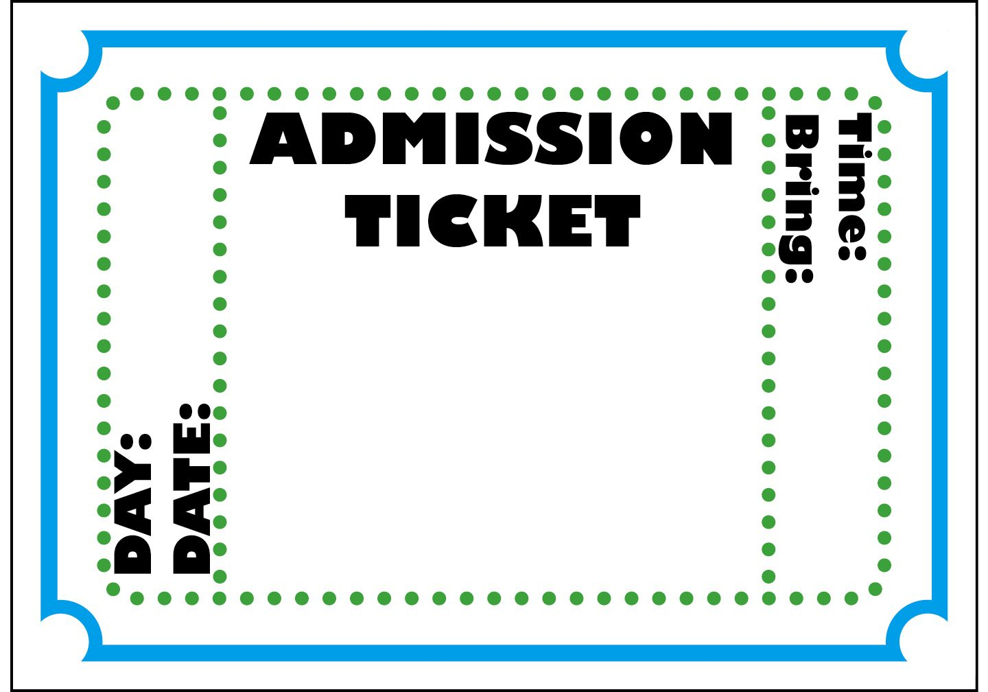Mormon Share } Admission Ticket | Party :p | Ticket Template, Movie - Free Printable Admission Ticket Template