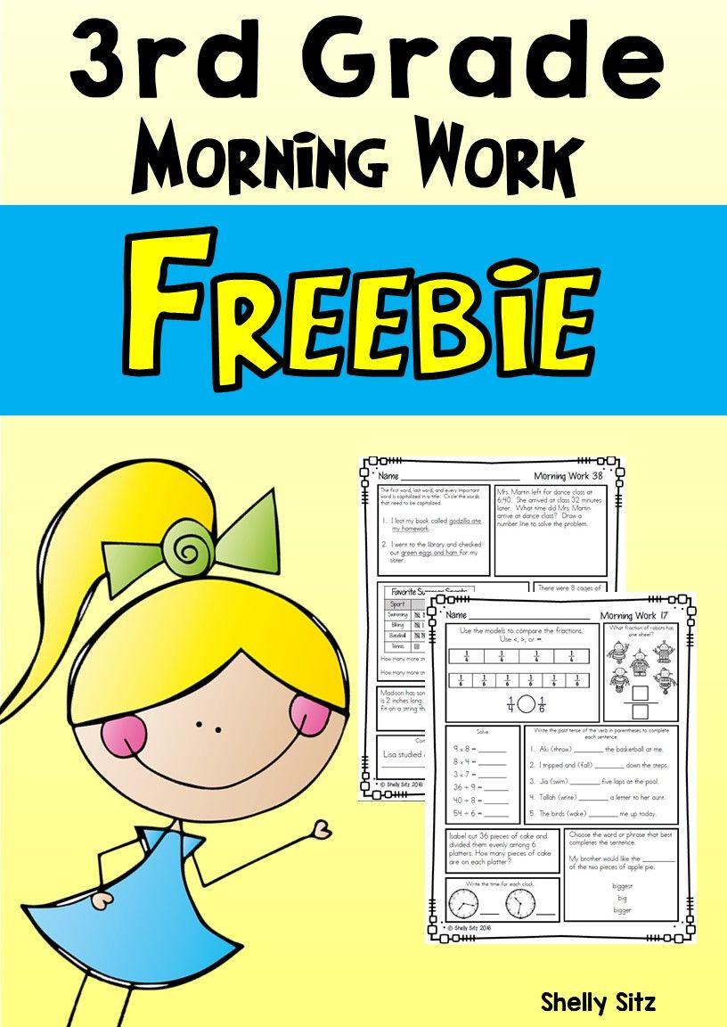 Morning Work For Third Grade (Third Quarter) | Free Educational - Free Printable 4Th Grade Morning Work
