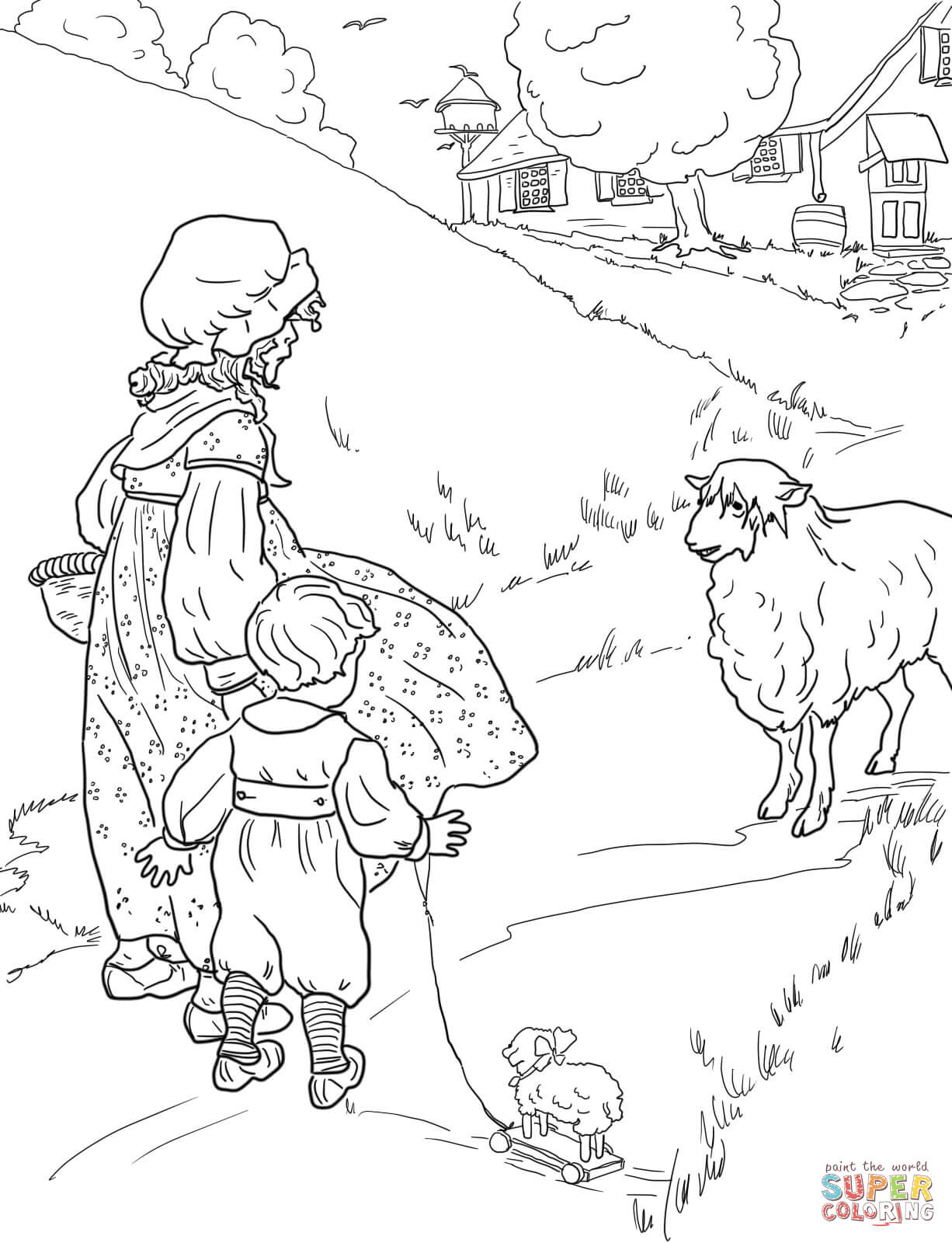 Mother Goose Nursery Rhymes Coloring Pages | Free Coloring Pages - Free Printable Mother Goose Nursery Rhymes