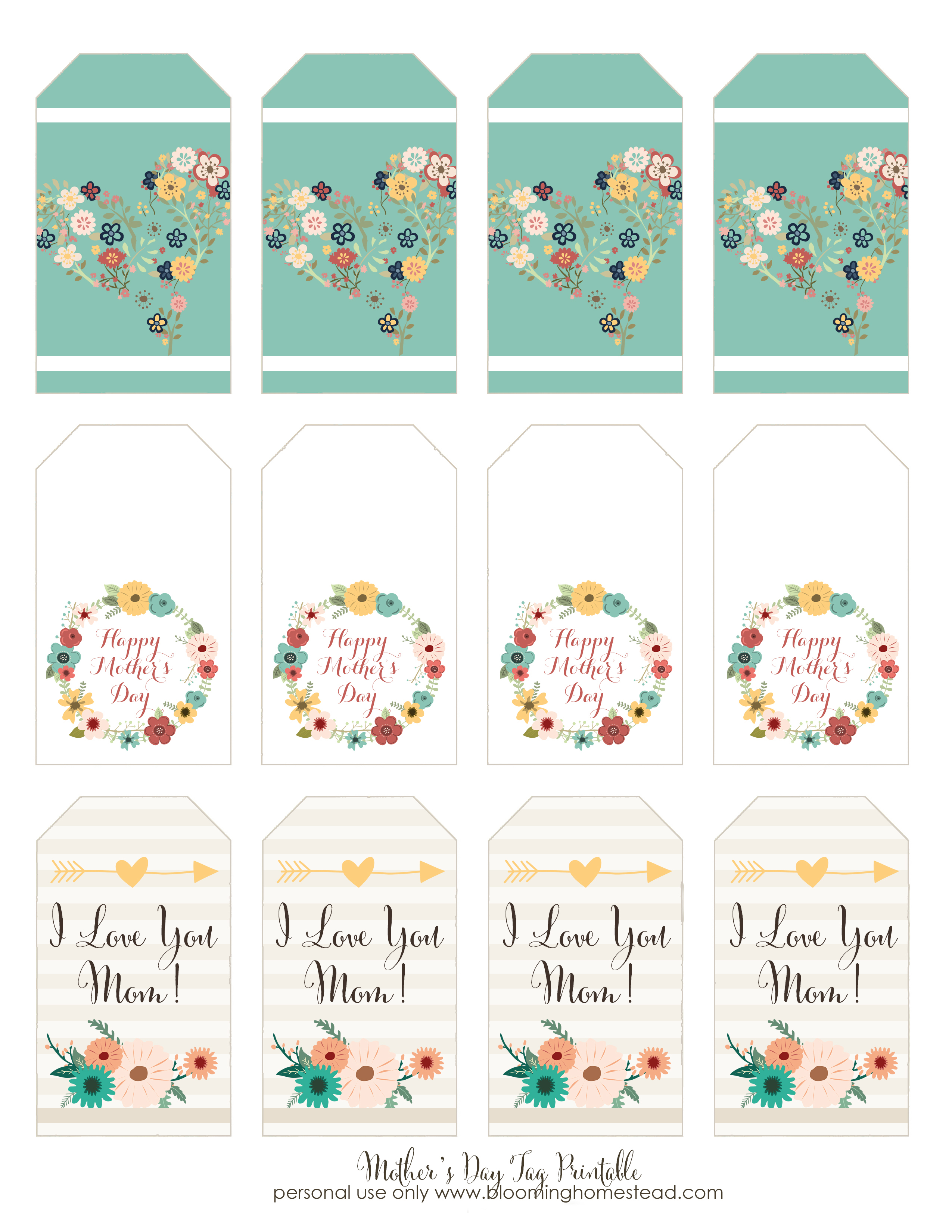 Mother's Day Printable Gift Tags - Blooming Homestead - Free Printable Favor Tags