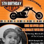 Motorcycle Biker Birthday Invitation $11 | Kids Birthday Invitations   Motorcycle Invitations Free Printable