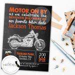 Motorcycle Invite Motorcycle Birthday Motorcycle Party | Etsy   Motorcycle Invitations Free Printable