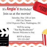Movie Night Invitation Birthday Invite Diy Printable. $8.00, Via   Movie Birthday Party Invitations Free Printable