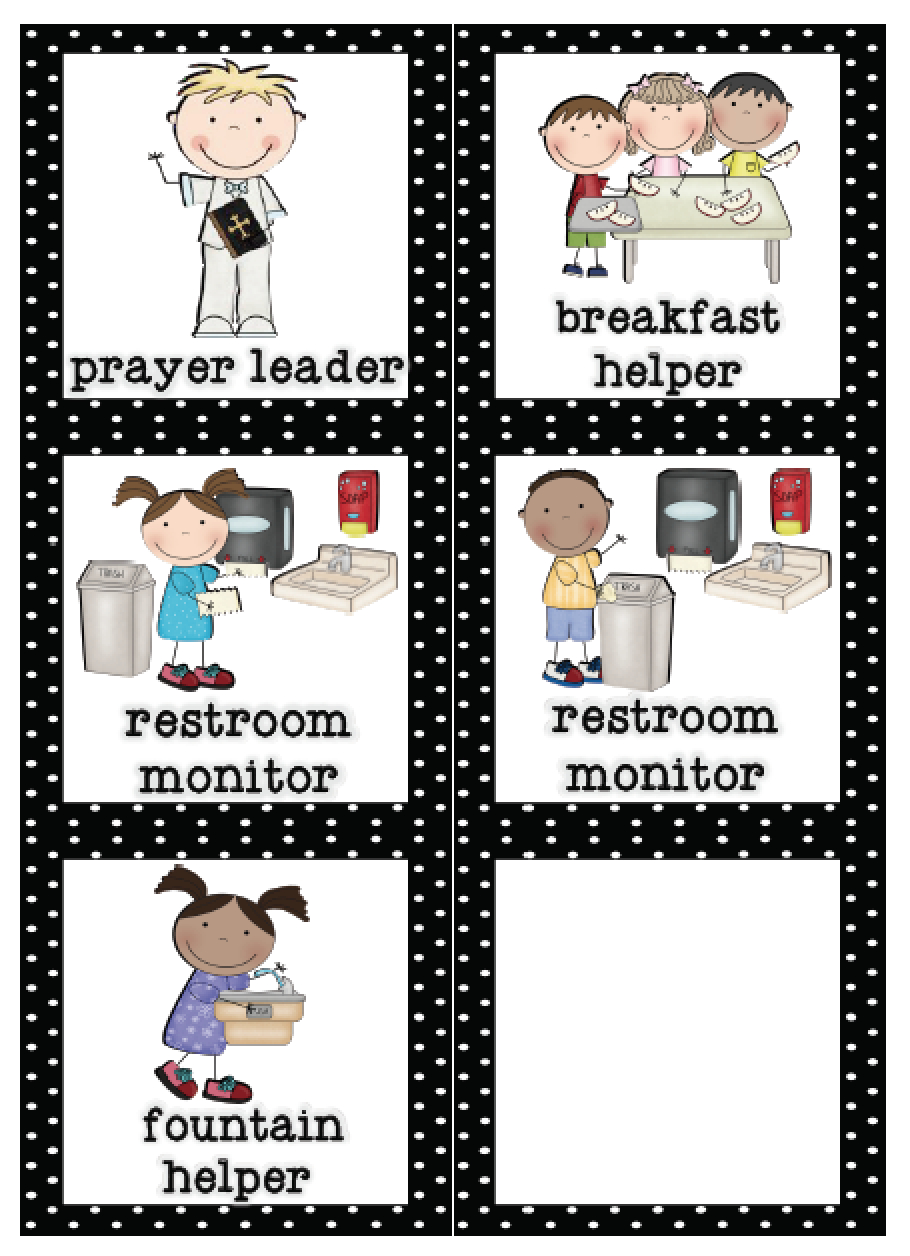 Mrs. Lirette's Learning Detectives: Classroom Helpers Set {Free} - Preschool Classroom Helper Labels Free Printable