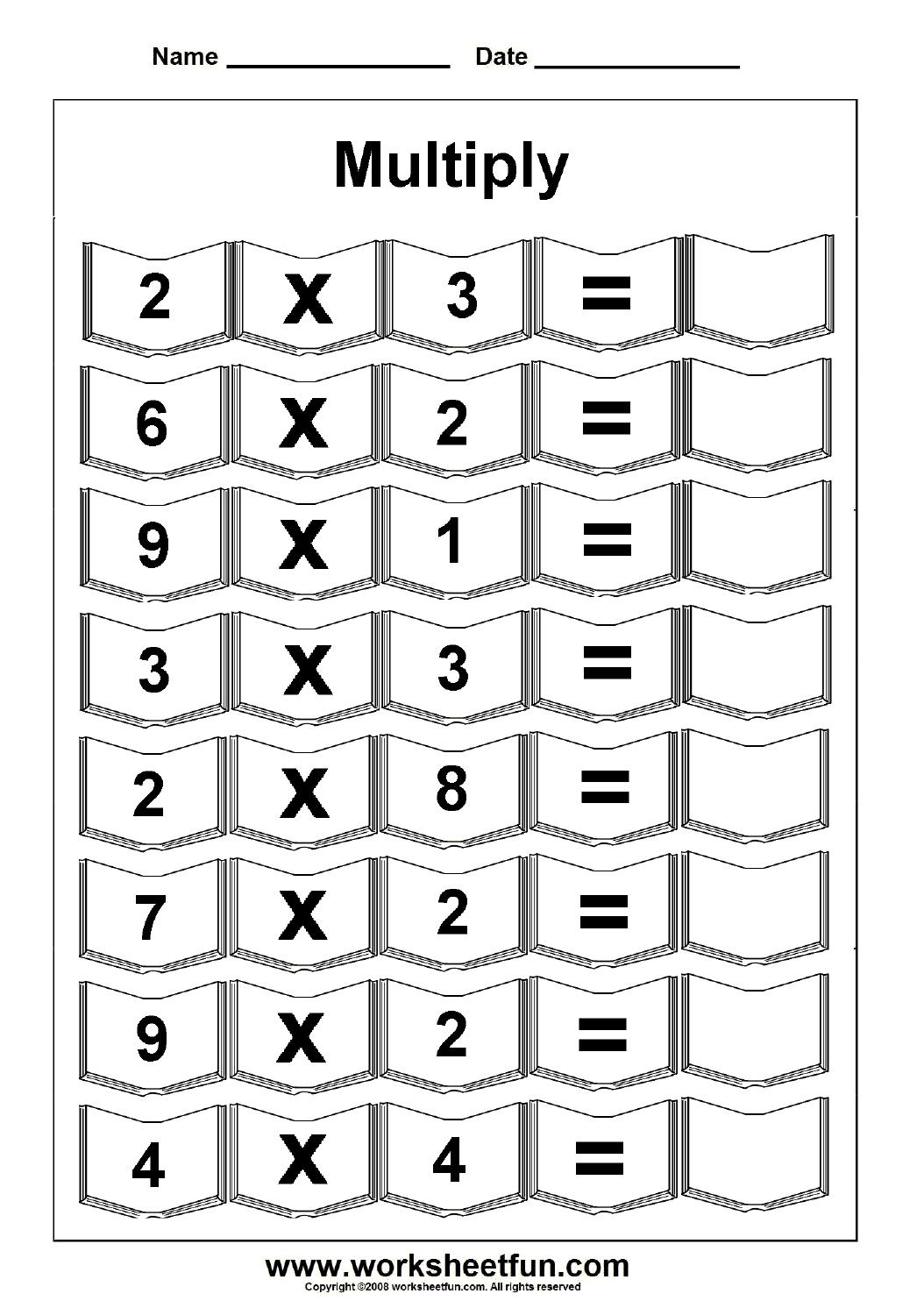 Multiplication – 5 Worksheets / Free Printable Worksheets – Worksheetfun - Free Printable 5 W's Worksheets