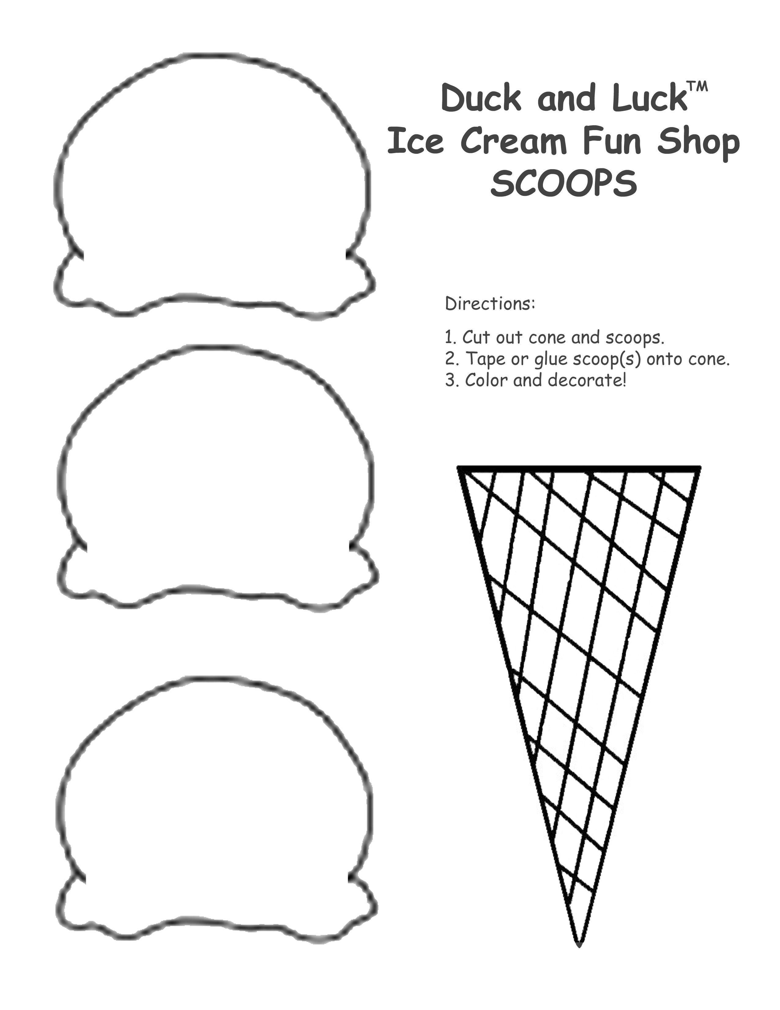 Multiplication Ice Cream Scoops Printable – Ezzy - Ice Cream Cone Template Free Printable