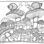 Mushrooms Coloring Pagetombow Usa | Paper | Coloring Pages, Free   Free Printable Mushroom Coloring Pages