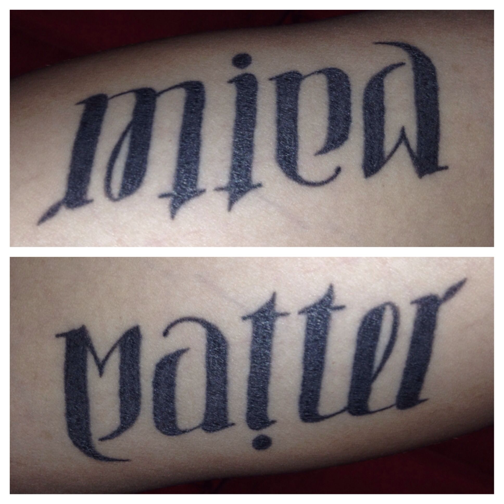 My Ambigram Arm Tattoo. Mind Over Matter | Tats | Tattoos, Ambigram - Ambigram Generator Free Printable