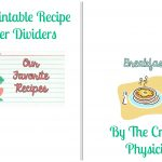 My Epic Return, And Gift To You: Free Printable Recipe Binder   Free Printable Recipe Dividers