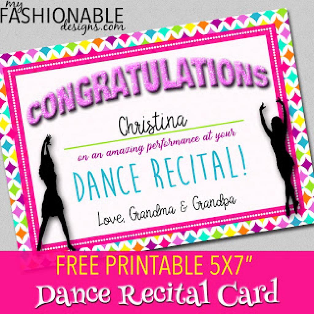 My Fashionable Designs: Free Printable Dance Recital Card For Free - Free Printable Dance Recital Cards