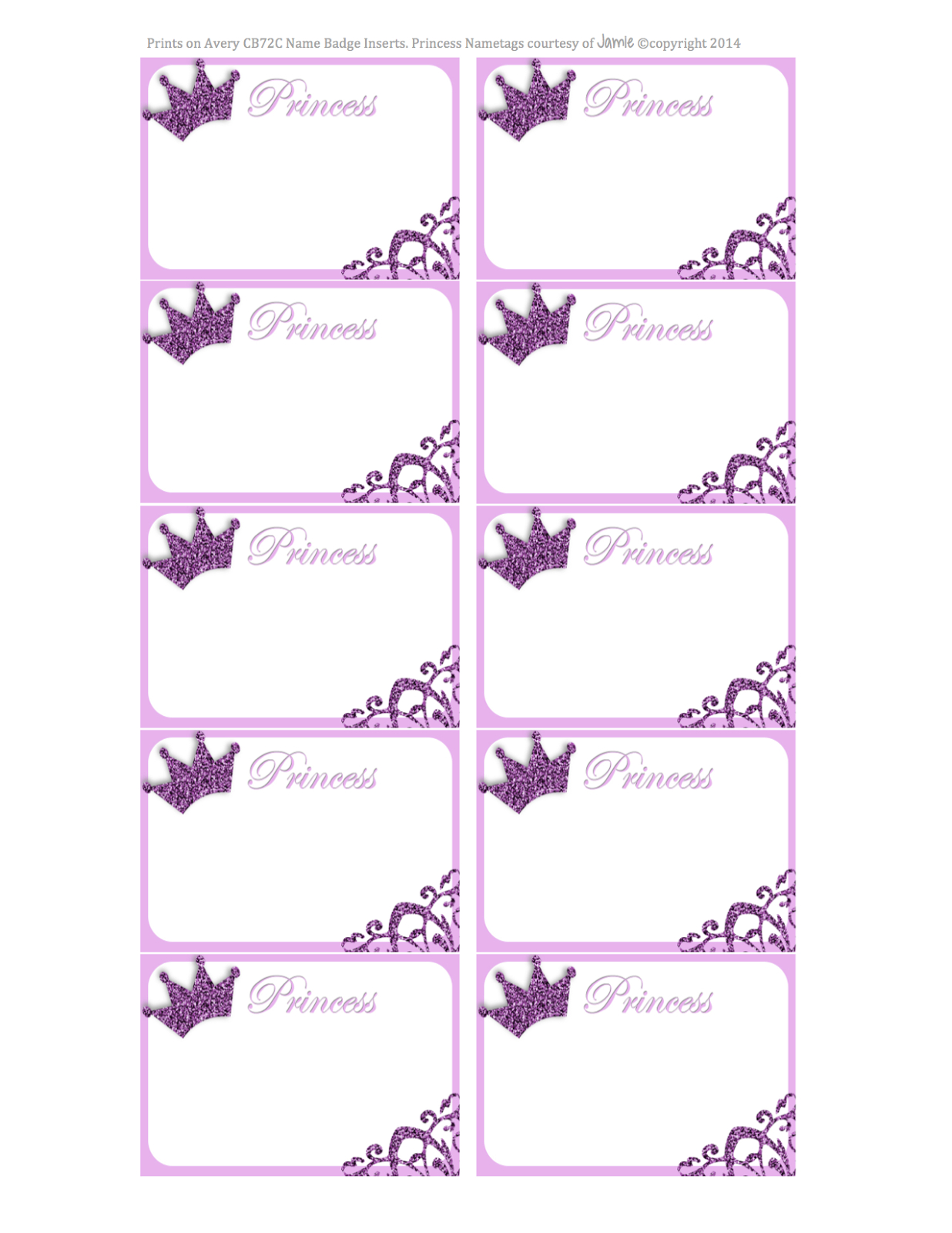 My Fashionable Designs: Princess Nametags Or Labels - Free Printable - Free Printable Name Tags