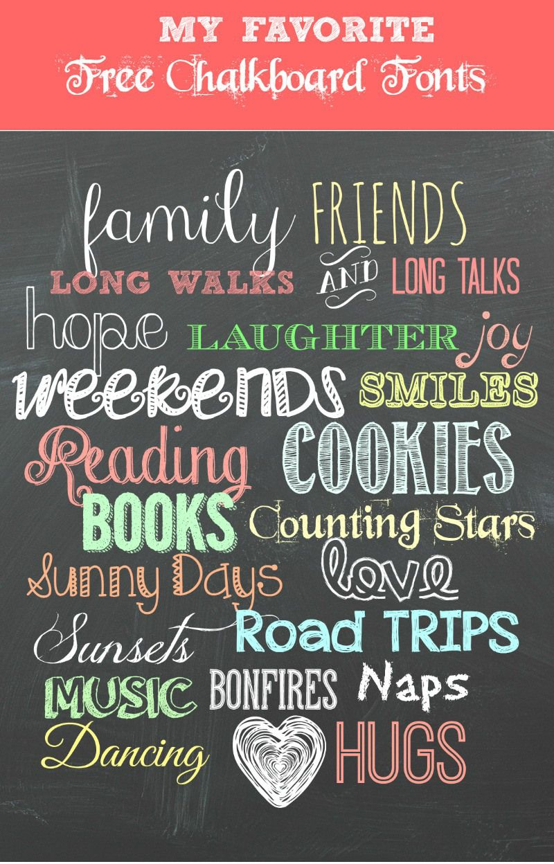 My Favorite Free Chalkboard Fonts + A Free Printable | Top Pins From - Free Printable Fonts