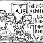Nativity Printable.great To Color Or Even Frame Or Turn Into A   Free Printable Christmas Story Coloring Pages