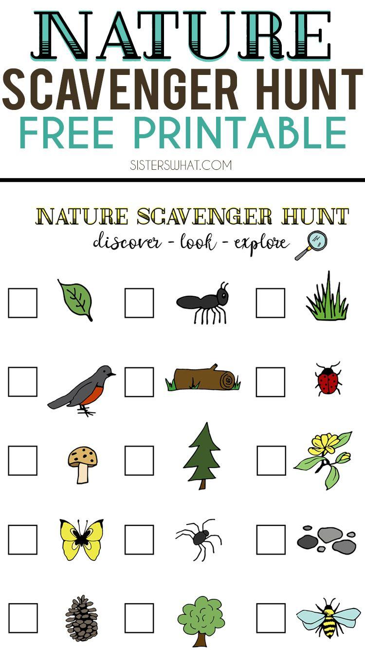 Nature Scavenger Hunt And Summer Adventures | Crafting Chicks - Free Printable Scavenger Hunt