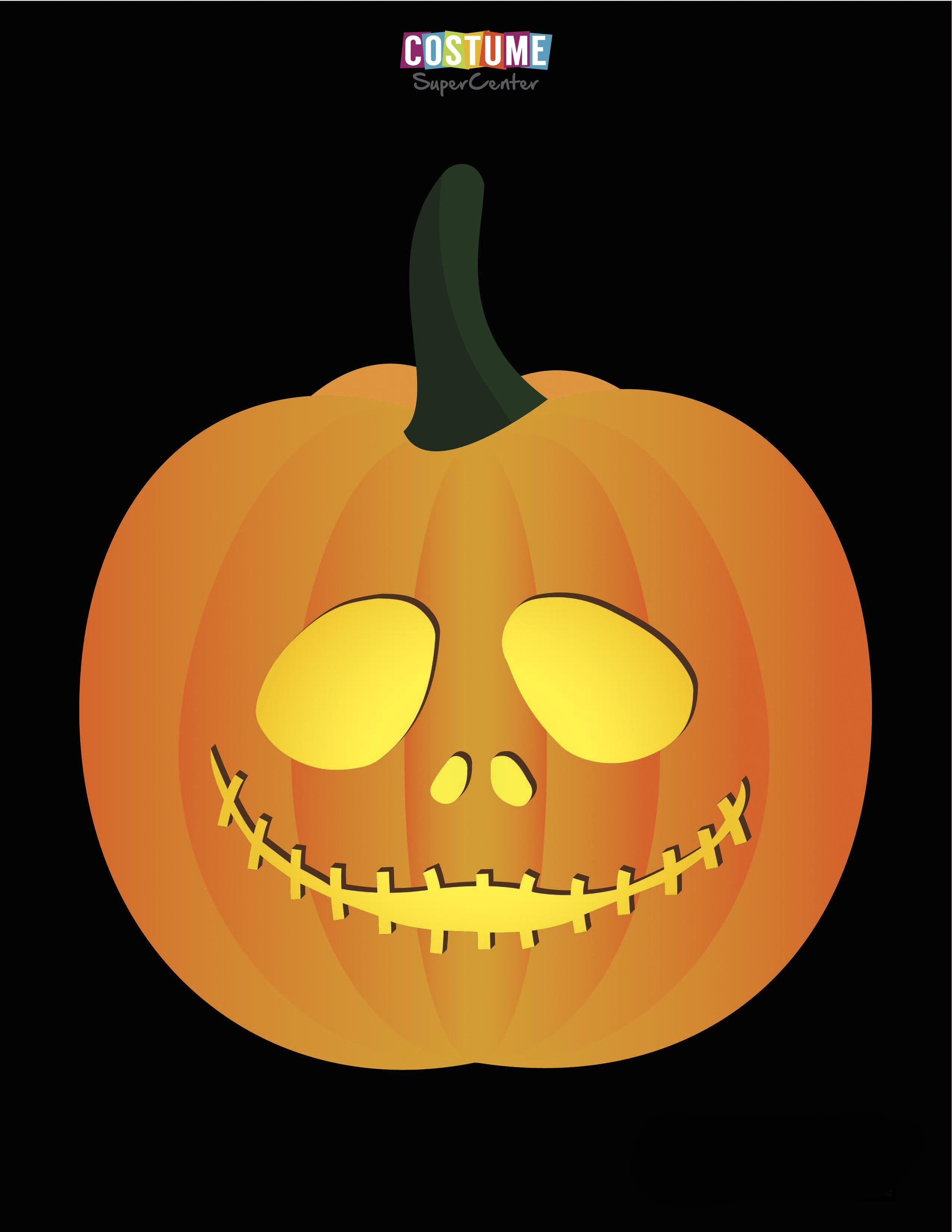 Nightmare Before Christmas Pumpkin Carving Stencils | Costume - Jack Skellington And Sally Pumpkin Stencils Free Printable
