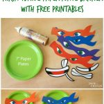 Ninja Turtle Paper Plate Banner With Free Printables | Moms   Teenage Mutant Ninja Turtles Free Printable Mask