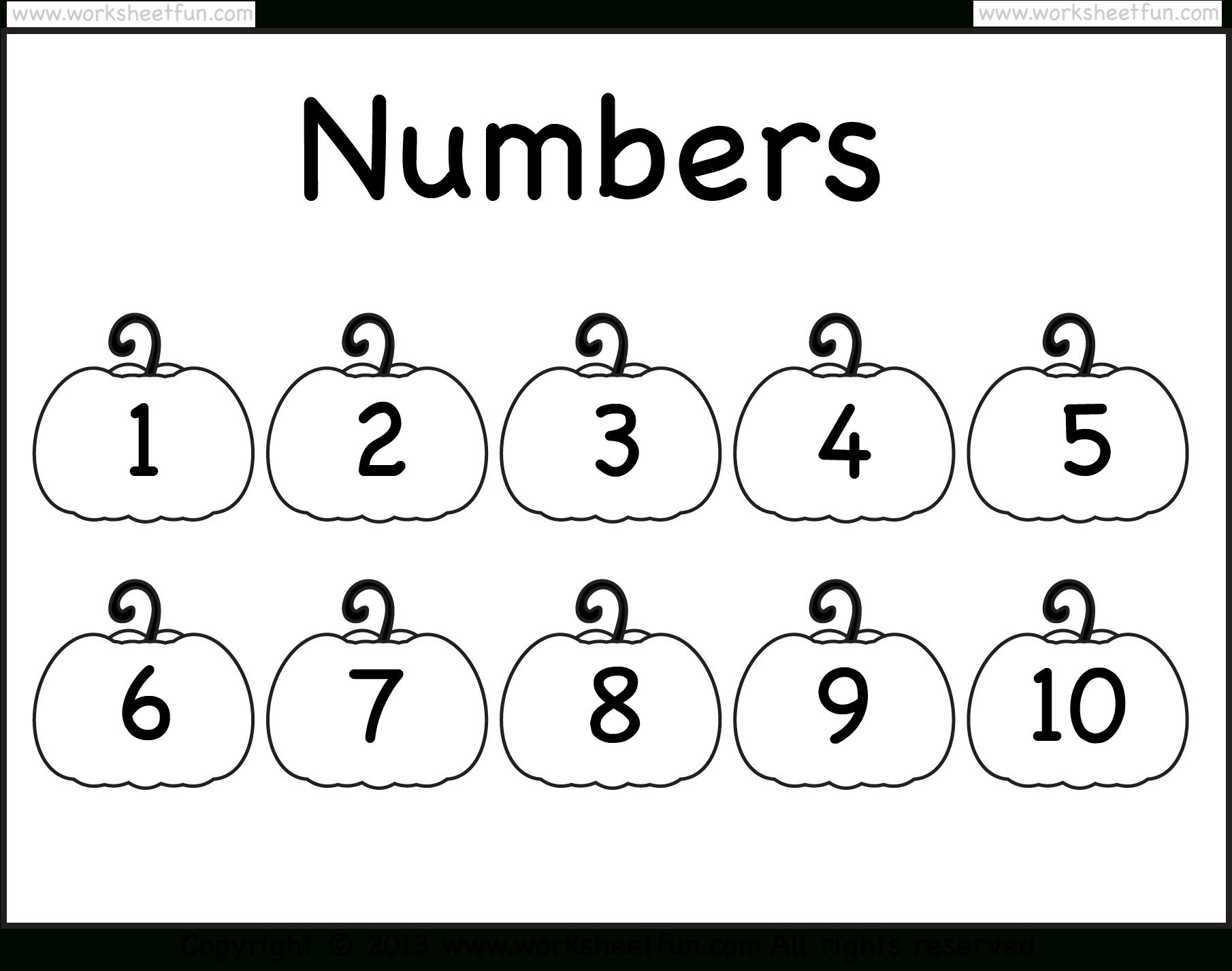 Number Chart – 1-10 – Worksheet / Free Printable Worksheets - Free Printable Numbers 1 10